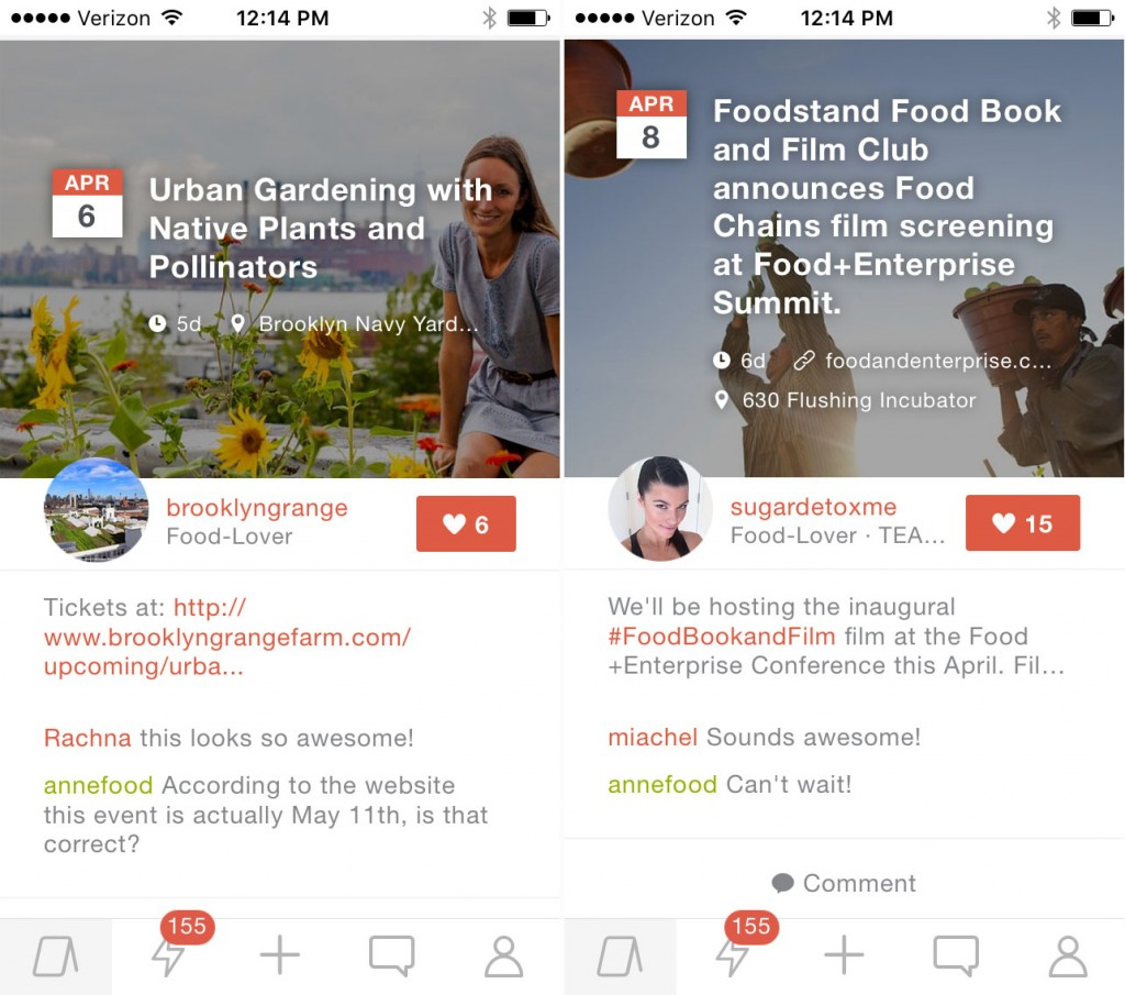 Anyone in the Foodstand community can post their own events with location, event date and time, and RSVP link via the Foodstand app, which is available as a free download for iPhone. (Android releases in late April 2016). Events automatically are updated on Foodstand's community calendar online as well, and the best events are shared in a weekly email.